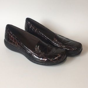 Clarks slip on shoes, size 6